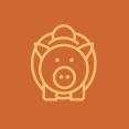 Piggy Bank Circle Icon